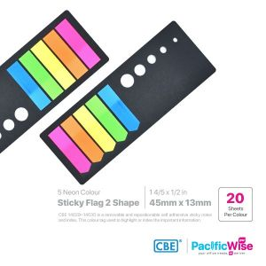 CBE Removable Sticky Flag 14029~14030 (5 Neon Colour)