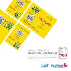 CBE Removable Sticky Note 14046~14049 (Lined Notes)