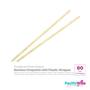 Bamboo Chopstick with Plastic Wrapper (60pairs)