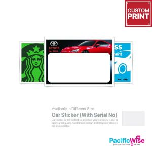 Customized Printing Car Sticker (With Serial Number)