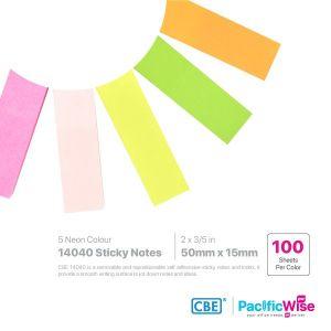 CBE Removable Sticky Note 14040 (5 Neon Colour)