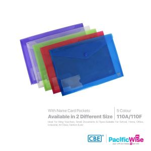 CBE Envelope File with Snap Button & Small Pocket (Landscape)