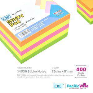 CBE Removable Sticky Note 14039 (4 Neon Colour)