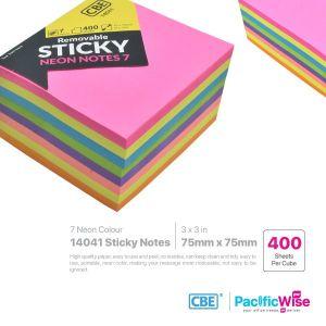 CBE Removable Sticky Note 14041 (7 Neon Colour)