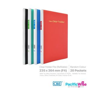 CBE Clear Holder for Foolscap Papers 37 Ring Files PP (Refillable)