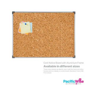 Cork Notice Board with Aluminium Frame