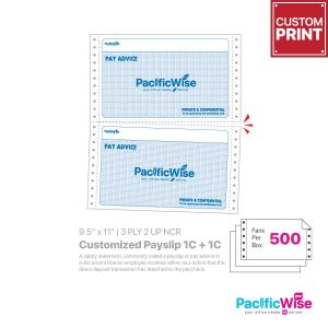 Customized Printing Pay Slip 1C + 1C