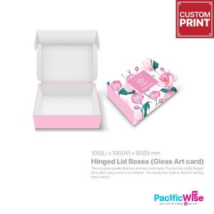 Customized Printing Hinged Lid Boxes (Gloss Art Card)