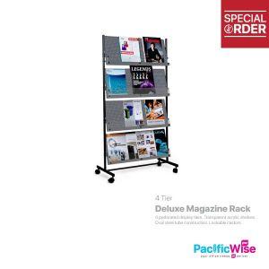 Deluxe Magazine Rack 4 tier