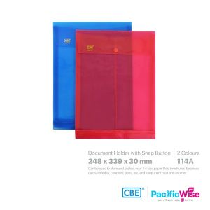 CBE Envelope File with Snap Button (Large Capacity)