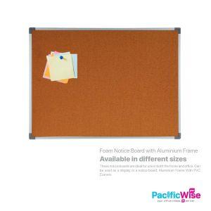 Foam Notice Board with Aluminium Frame