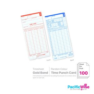 Time Punch Card (Gold Bond)