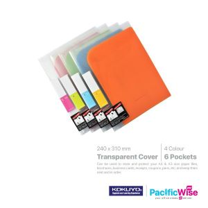 Kokuyo Pocket Book 6 Pockets Transparent Cover