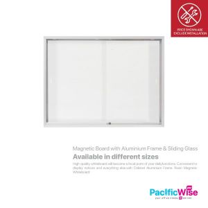 Magnetic Board with Aluminium Frame & Sliding Glass