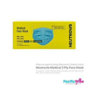 Neutrovis Medical 3 Ply Face Mask (50's)
