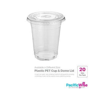 Plastic PET Cup & Flat Lid (20set)