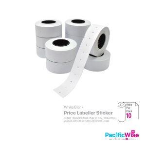 Price Labeller Sticker 2 Line (White Blank)