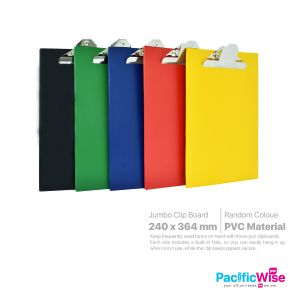 PVC Clip Board (Jumbo Clip)-F4