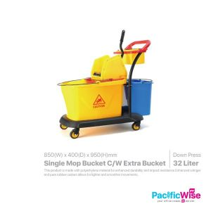 Single Mop Bucket Come With Extra Bucket 32 Litre (Rubbermaid)