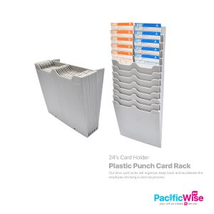 Plastic Punch Card Rack