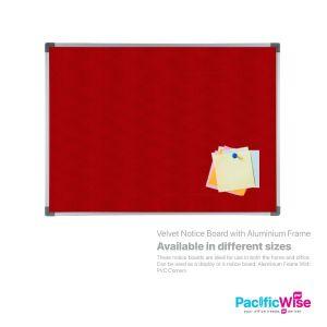 Velvet Notice Board with Aluminium Frame