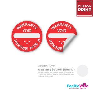 Customized Printing Warranty Sticker (Round)