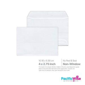 """White Envelope (Non-Window) 4"""" x 2 3/4"""""""