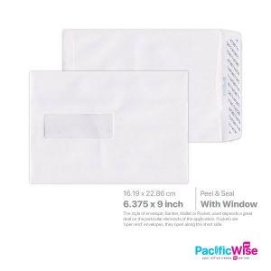"""White Envelope (Window) 6 3/8"""" x 9"""""""
