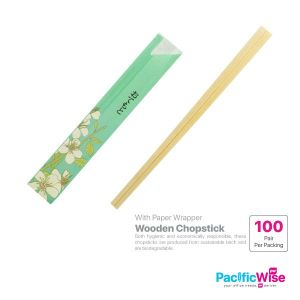 Wooden Chopstick with Paper Wrapper (100pairs)