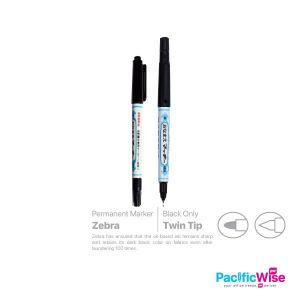Zebra Permanent Twin Tip Marker