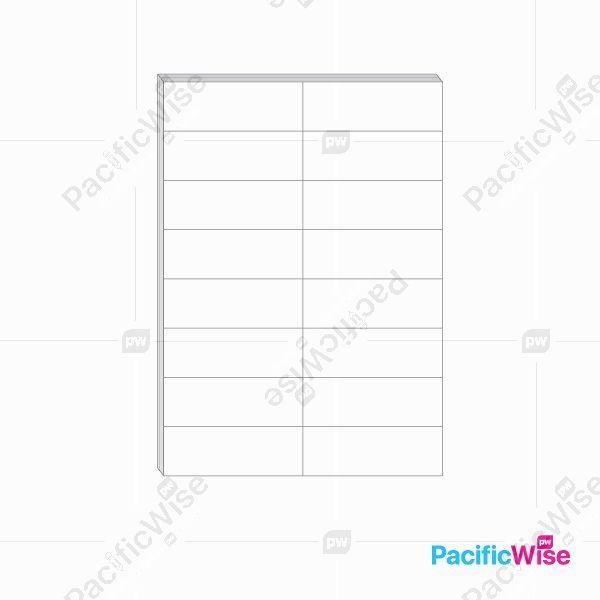 A4/Simili Sticker Label/Label Pelekat Simili/Sticker Label/16 Up/105mm x 37.25mm (100'S)