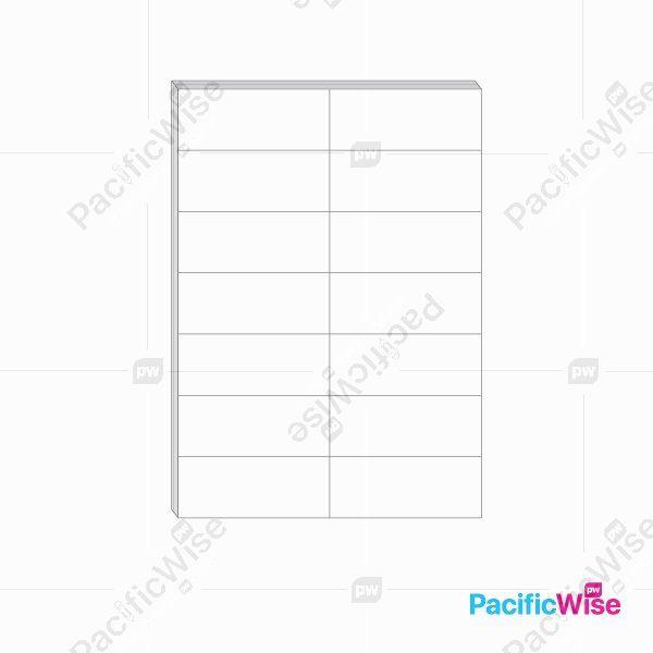 A4 Simili Sticker Label 14 Up 105mm x 42.42mm (100'S)