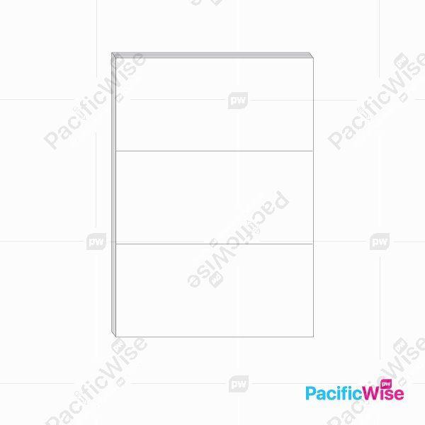 A4 Simili Sticker Label 3 Up 210mm x 99mm (100'S)