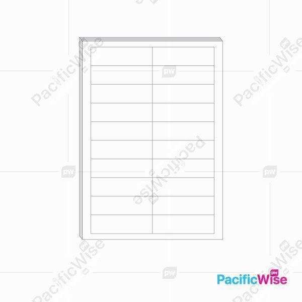 A4/Simili Sticker Label/Label Pelekat Simili/Sticker Label/20 Up/98mm x 25mm (100'S)