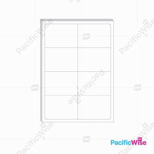 A4 Simili Sticker Label 8 Up 99mm x 68mm (100'S)