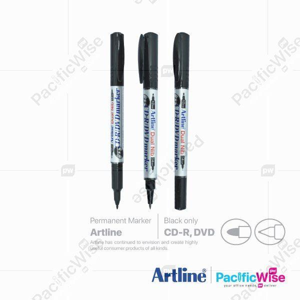 Artline/CD-R/DVD/Marker Dual Nib/Penanda/Writing Pen/841T