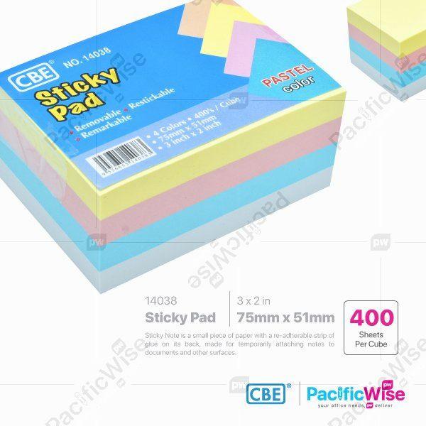 CBE Removable Sticky Note 14038 (4 Pastel Colour)