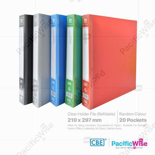 CBE Clear Holder 4D Ring Files PP (Refillable)
