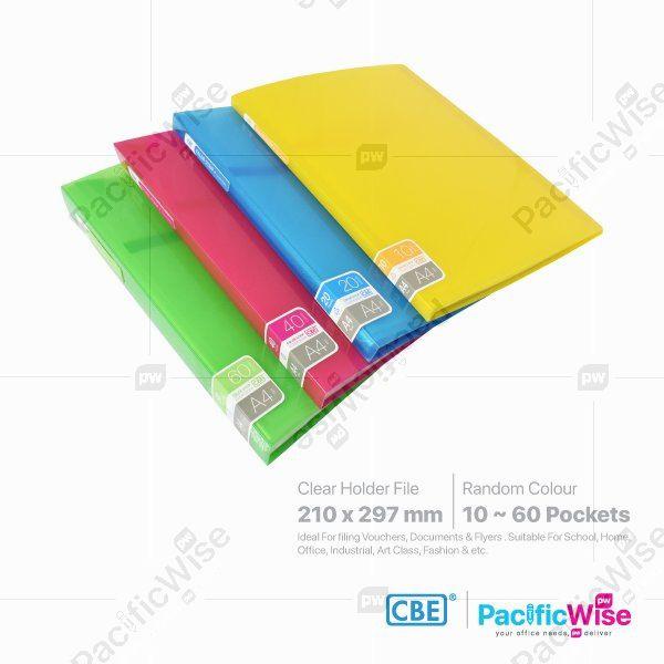 CBE Clear Holder Files Color Strip BQ Series