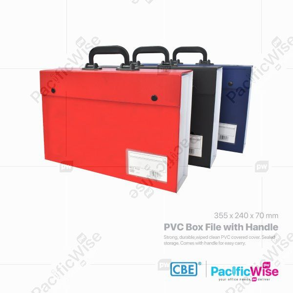 CBE PVC Box File with Handle