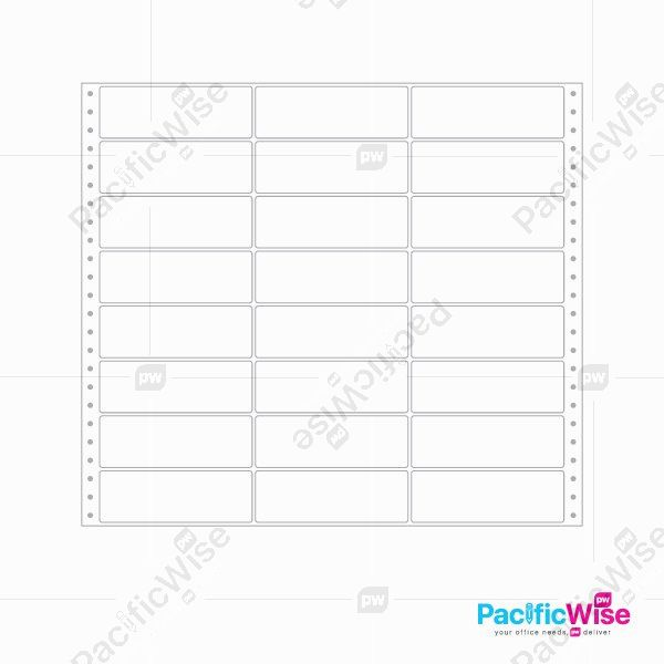 Computer Sticker Label 3 Panel (10,008pcs)
