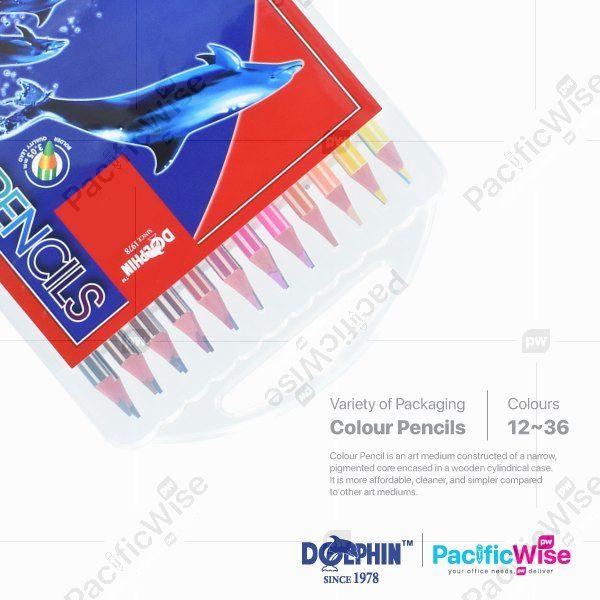 Dolphin/Colour Pencil/Pensil Warna/Colouring (12/24/36Pcs/Box)