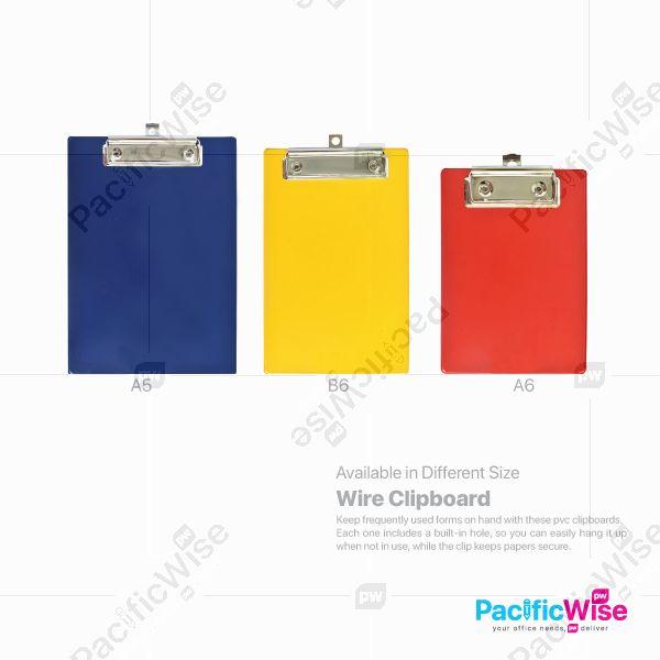 PVC Clip Board (Wire Clip)