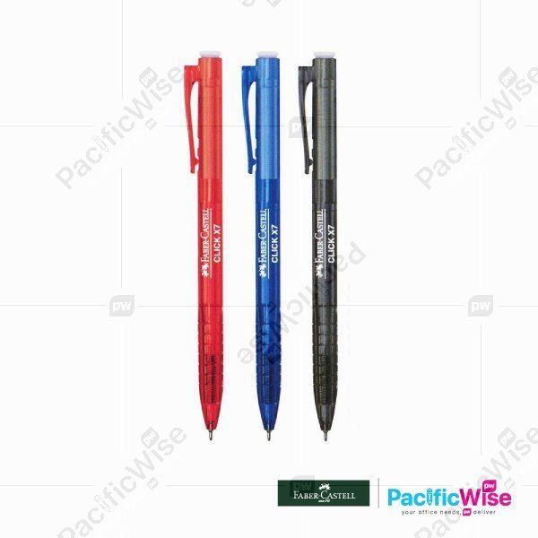 Faber Castell/Click X Ball Pen/Pen Bola/Click X7 0.7mm 1422