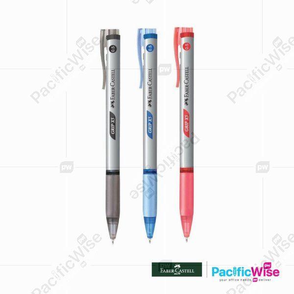 Faber Castell/Ball Pen/Pen Bola/Writing Pen/Grip X5/0.5mm