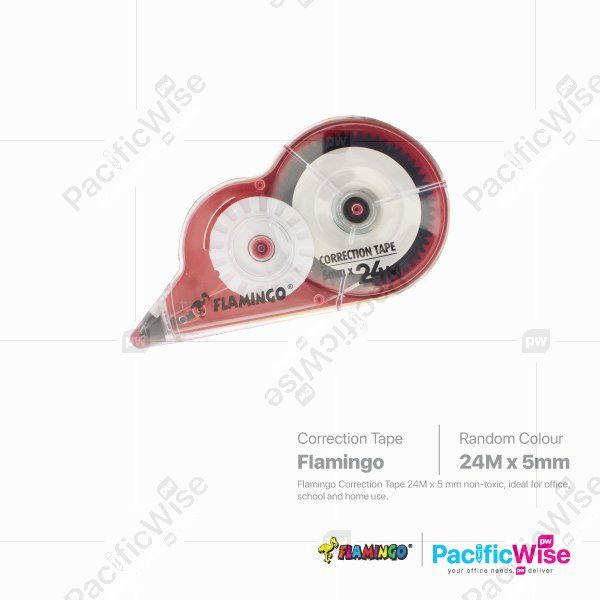 Flamingo/Correction Tape/Pita Pembetulan/Writing Pen/FLAM-412/5mm x 42m