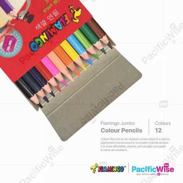 Flamingo/Jumbo Colour Pencil/Pensil Warna Jumbo/Colouring (12'S)