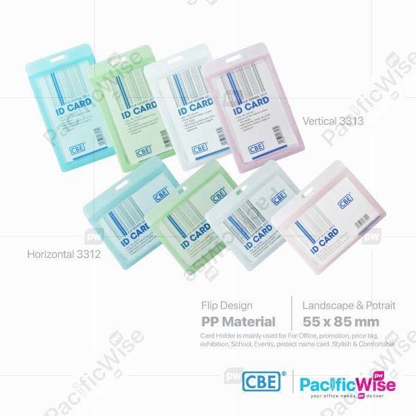 CBE Card Holder Flip Design with Matt/Pemegang Kad Rekaan Balik Dengan Matt/Name Badge/(3312/3313)