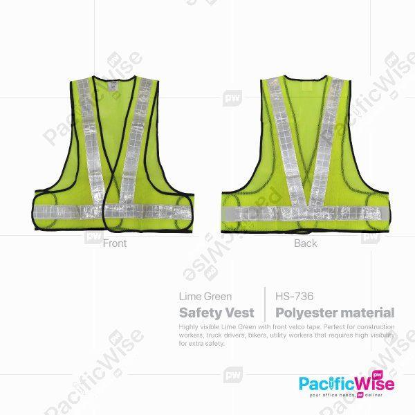 Green Reflective Safety Vest HS-736