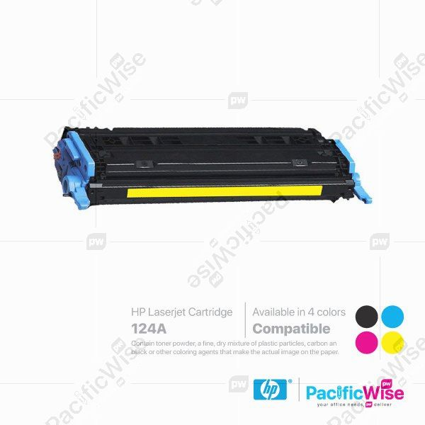 HP 124A LaserJet Toner Cartridge Q6000A ~ Q6003A (Compatible)